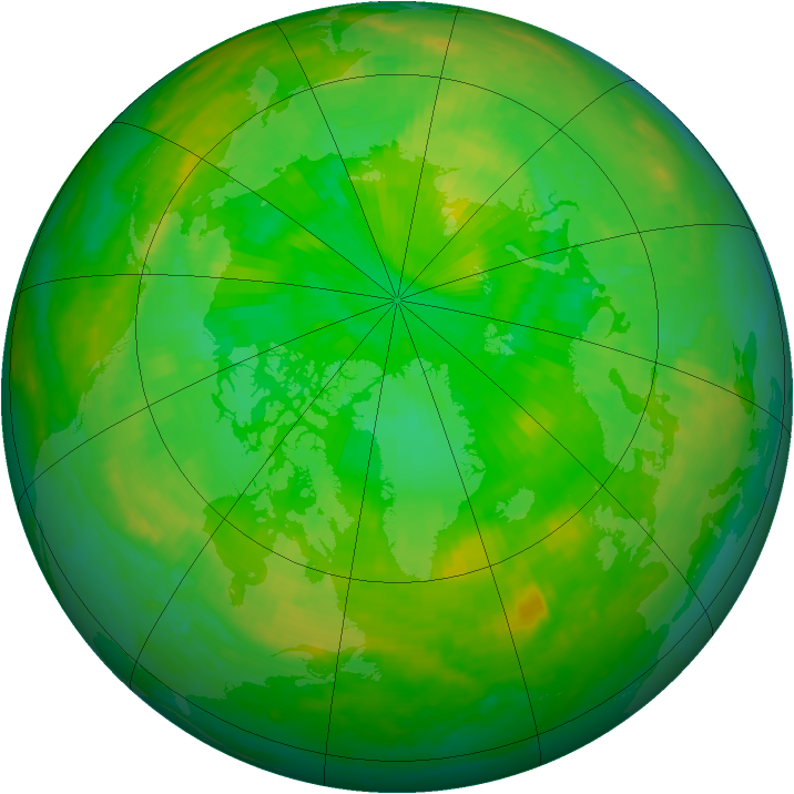 Arctic ozone map for 06 July 2003
